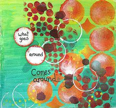 What goes around... by Einat Kessler - Cards and Paper Crafts at Splitcoaststampers