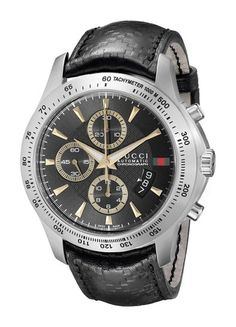 8a6da312591 Gucci Men s YA126237 Gucci timeless Black Diamond Pattern Dial Watch
