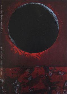 "Vicente Martín  ""Luna negra"" Grabado P/A Prueba de artista 65 x 45 cm.  http://www.portondesanpedro.com/ver-producto.php?id=12936"