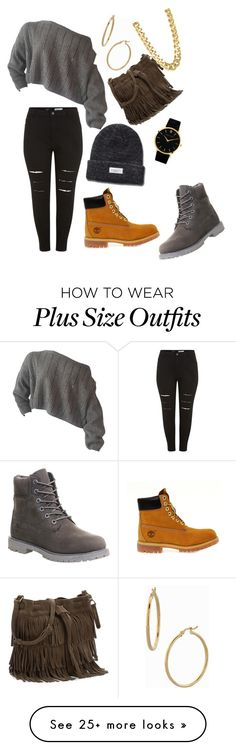"""Almost Winter (Plus)"" by biggfinee on Polyvore featuring Timberland, Larsson & Jennings, Bony Levy and CC SKYE"
