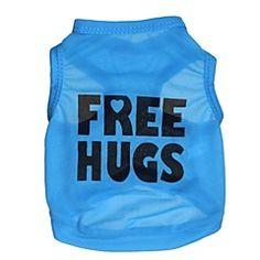 Cat / Dog Shirt / T-Shirt Blue Dog Clothes Summer Letter & Number Cosplay