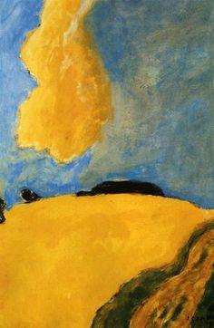 Józef Czapski Yellow cloud ( Chmura -1982 )