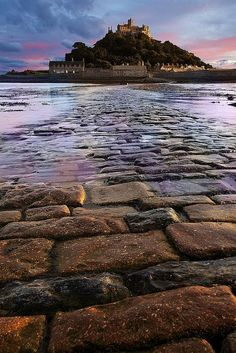 The historic St Michael's Mount in Cornwall, England. (Photo via europe a la carte on Pinterest)