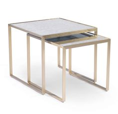 Mitchell Gold Bob Williams Mitchell Gold + Bob Williams Astor Side Nesting Tables Home - Bloomingdale's Large Table, Small Tables, Side Tables, End Tables With Storage, Table Storage, Side Table Styling, Brass Side Table, Mitchell Gold, Nesting Tables