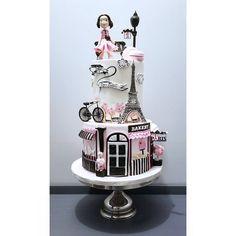 cake mix mug cake Paris Birthday Cakes, Paris Themed Cakes, Paris Themed Birthday Party, Paris Cakes, Parisian Cake, Bolo Paris, Eiffel Tower Cake, Teen Cakes, Beautiful Birthday Cakes
