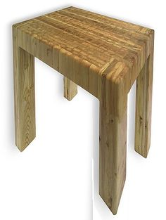Larch Wood Maximus Chop Block Table | Seattleluxe.com