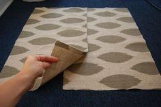 No sew pillow covers using hem tape.