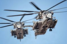 Two Sikorsky CH-53E Super Stallions arriving at Kiwanis Park during the WTI 1-17 HA/DR.  #Nikon #D7000 #Aviation #Photography #AvGeek #Sikorsky #CH53E #SuperStallion #HMH464 #Condors #HMH465 #Warhorse #WTI #MarineCorps #HADR #Yuma #Arizona  ottosenphotography.com | © Matt Ottosen