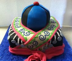 Traditional Hmong Costume Cake By sweetalini on CakeCentral.com