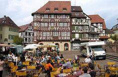 Marktplatz und Palmsches Haus Mosbach