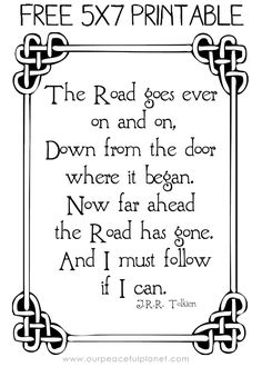 A free Tolkien Quote to end our month long celebration of Tolkien Week & Hobbit Day! View all Tolkien Crafts & Activities!