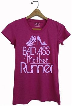 Funny fitness tank top and tee shirts- Bad Ass Mother Runner - $19.99 - running gifts