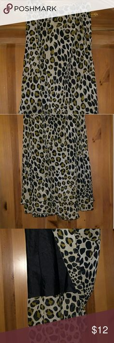 Cato's leopard print skirt Long double layer leopard print skirt Skirts Maxi