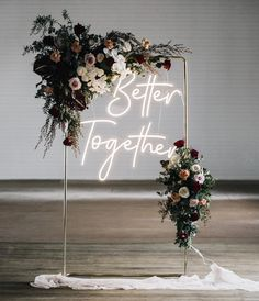 There is a new wedding trend for neon wedding signs. They must not be missing from any yes word. You can find inspiration here! There is a new wedding trend for neon wedding signs. They must not be missing from any yes word. You can find inspiration here! Perfect Wedding, Dream Wedding, Wedding Day, Wedding Disney, Spring Wedding, Wedding Anniversary, Wedding Bells, Wedding Flowers, Romantic Flowers
