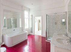 bright bathroom floor #landofnod