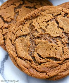 Giant Soft & Chewy Molasses Ginger Cookies - Delicious!  This recipe is a keeper! Made them smaller; cooked 9-10 mins; cooled on pan 3 mins.