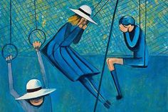 Once a member of the Antipodeans, a group of Melbourne painters, Charles Blackman is now one of the most original and significant figurative painters in art. Australian Painters, Australian Artists, Henry Thomas, Schoolgirl, Illustration Art, Illustrations, Painting & Drawing, Aston Martin, Artwork