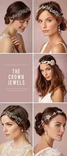Gorgeous and delicate rhinestone tiaras. Tiara peine con una gota de rhinestone como accesorios para peinados Boho.