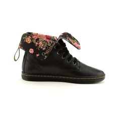 "lightweight & versatile - fold it down to expose the cute floral pattern or wear it up to sport an industrial look - Women's ""Eclectic Rolldown Boot"" from Dr. Martens - ONLY AVAILABLE at Journeys & Shi by Journeys"