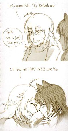 Yang and blake parte 2 😍 Rwby Comic, Rwby Fanart, Cute Anime Pics, Cute Anime Couples, Yuri Anime, Anime Art, Rwby Blake, Rwby Bumblebee, Rwby Memes