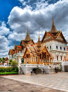 The Royal Palace in Bangkok, Thailand. It's located in the historic city center, on the same compound as the Temple of the Emerald Buddha.