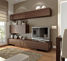 Chic and Modern TV wall mount ideas. Here are 15 best TV wall mount ideas for any place including your living room. Living Room Tv, Home And Living, Tv Furniture, Furniture Design, Tv Wall Design, House Design, Tv Wall Unit Designs, Tv Wanddekor, Muebles Living