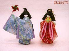 幼な夢 彩人形-手のひらサイズの和紙人形-