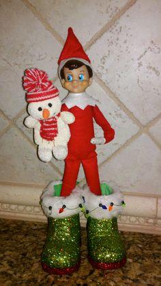 Arthur entertains us today as a ventriloquist! Elf on the Shelf. #ElfontheShelf