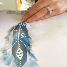 Boho watercolor feathers with tribal designs. Add these to your dream catcher for a unique one of a kind piece for your home or bedroom home diy crafts Hand painted watercolor feathers Watercolor Feather, Feather Painting, Feather Art, Dream Catcher Watercolor, Dream Catcher Painting, Watercolor Painting, Diy Home Crafts, Fun Crafts, Arts And Crafts
