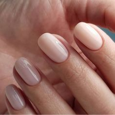 Gelish Nail Colours, Gelish Nails, Nude Nails, Nail Manicure, Pink Nails, Nail Polish, Short Oval Nails, Round Nails, Rounded Acrylic Nails