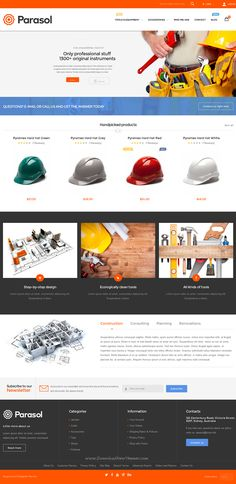 Parasol is amazing Responsive Multipurpose #Magento Theme packed with 20+ unique skins to cover any kind of online business. #tools #shop #website
