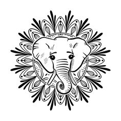 Stay Resilient by Marlene Wagenhofer art - Listen to your inner wisdom - knowledge that is ancient - with this spirit elephant. Inkbox Tattoo, Tattoo Signs, Elephant Tattoos, Animal Tattoos, Semi Permanent Tattoo, Simple Illustration, Tattoo Stencils, All Tattoos, Line Drawing