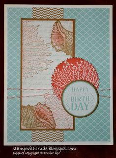Stampin' Up! By the Tide Birthday card. Mojo Monday 333