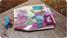 Mini Album Tea Time with acrylic cover - Gaborin Gaboriela Scrapbook