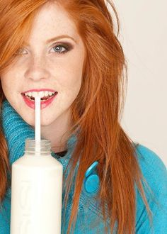 redhead drinking milk - A Tribute to Redheads on Marina's Blog