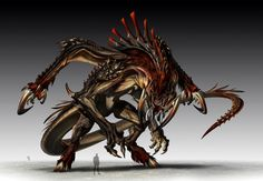 Karnaghast by Aaron St.Goddard on ArtStation. Concept Art Alien, Monster Concept Art, Creature Concept Art, Creature Design, Monster Art, Fantasy Monster, Monster Design, Dark Creatures, Mythical Creatures Art