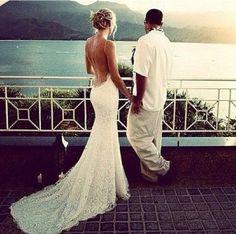 wedding dress, open back wedding dress
