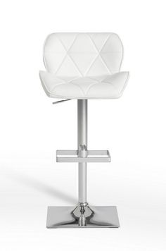 Modrest Otto Modern White Leatherette Bar Stool 16166 Features:WhiteEco-LeatherTufted BackrestStainless Steel Swivel Base With FootrestAdjustable Seat Height Dimensions: Bar Stool : White Bar Stools, Counter Bar Stools, Swivel Bar Stools, Contemporary Bar Stools, Modern Bar Stools, Contemporary Furniture, Leather Chair With Ottoman, Leather Bar Stools, Bar Furniture