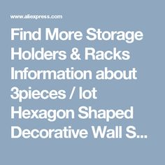 Find More Storage Holders & Racks Information about 3pieces / lot Hexagon Shaped Decorative Wall Shelves Wood Wall Shelves Modern Red,black,white 3D Wall Sticker Korean Wall Shelfs,High Quality decorative wall shelves,China wall shelf Suppliers, Cheap wood wall shelf from Wooden box / crafts Store on Aliexpress.com