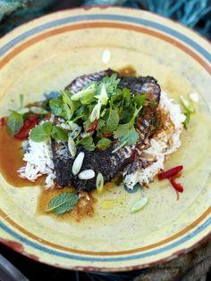 Crispy-skinned mackerel with Asian-inspired dressing | Jamie Oliver