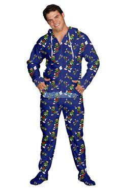 5849b3977a Marvin The Martian Pajamas Footie PJs Onesies One Piece Adult Pajamas