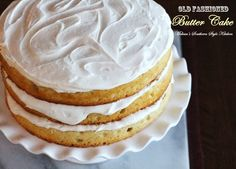 For years people have been in search of the perfect yellow cake. I've heard them called, Old Fashioned Butter Cake, plain cake, yellow cake or cake. They're all slight variations of the same cake. (Old Fashioned Butter Cake) Homemade Butter, Homemade Cakes, Old Fashioned Butter Cake Recipe, Cake Recipes, Dessert Recipes, Cronut Recipes, Juice Recipes, Dessert Ideas, Cake Ideas