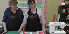 Jenny Doan and daughter Hillery demonstrate beginner free motion quilting on a domestic sewing machine.