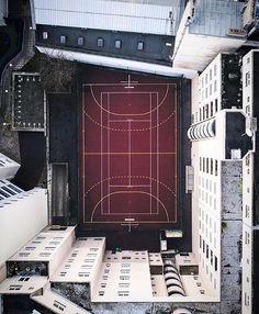 """""""Hidden Playground"""" by @alyasmusic  #drone #playground #paris #fubiz #inspiration"""