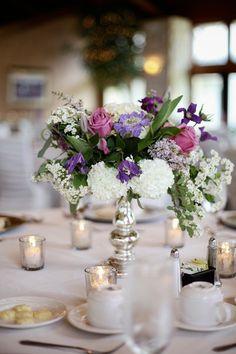 An elegant wedding centerpiece. {Kate Wenzel Photography}