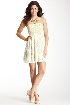 Strapless Lace Dress #white #cute #love