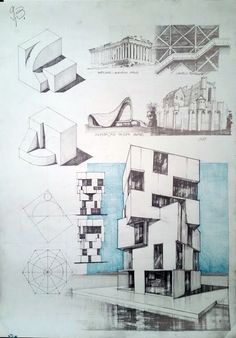 Architecture drawing and sketches vladbucur.ro Architectural drawing and sketches vladbucur. Architecture Concept Drawings, Architecture Sketchbook, Architecture Student, Architecture Portfolio, Art And Architecture, Retail Architecture, Architecture Diagrams, Roof Detail, Interior Sketch