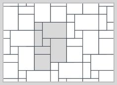 Image result for how to set up a random rectangle and square pattern