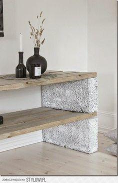 Cinder Blocks & Naturally Weathered Cedar Planks!