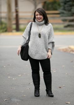 wardrobe oxygen what I wore MICHAEL Michael Kors poncho sweater